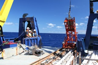 Coring on deck! Waiting for the core to arrive...