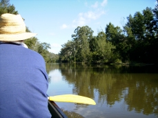 Contemplative paddling whilst on the lookout for collapses