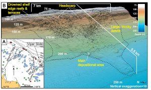 Undersea landslide discovered edge off Townsvi