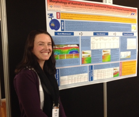 Sam and her poster at AECS 2014