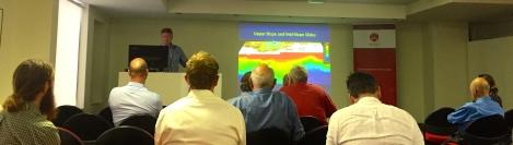 Tom Hubble presenting at Engineering Australia meeting