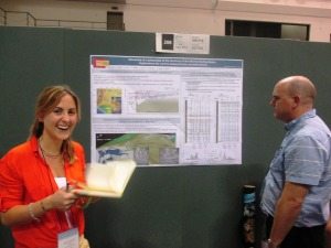 Elyssa De Carli presenting her poster.