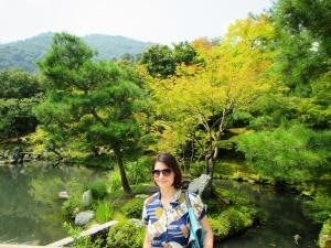 Madi exploring the Zen Garden.