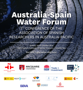Advertisement for the Australia-Spain Water Forum