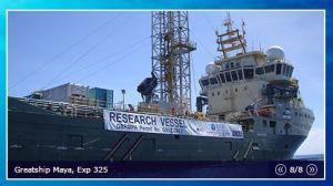 RV Greatship Maya used in IODP Exp. 325 to drill the fossil reefs of the GBR