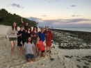 Teaching staff enjoying the last sunset on Heron Island