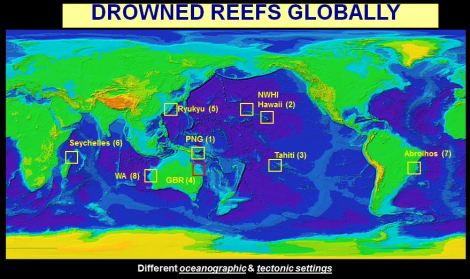 GRG drowned coral reef study sites (Source: GRG)